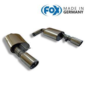 FOX フォックス オールステンレスマフラー(リアマフラー) BMW E90/E91/E92/E93 335i用 90mm 斜め 左右|alpha-online-shop