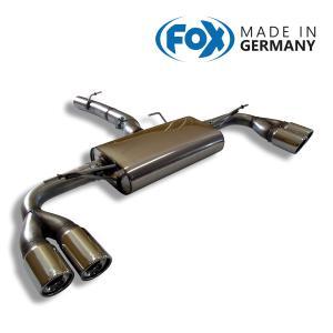 FOX フォックス オールステンレスマフラー(リアマフラー) BMW F25 X3 28i/35i / F26 X4 35i用 90mm 斜め ダブル 左右|alpha-online-shop