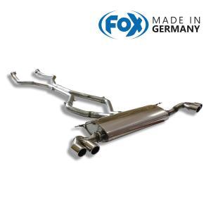 FOX フォックス オールステンレスマフラー(リアマフラー) BMW F15 X5 xDrive50i用 80mm 斜め ダブル 左右|alpha-online-shop