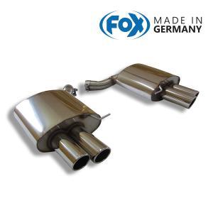 FOX フォックス オールステンレスマフラー(リアマフラー) BMW F12/F13 650i用 90mm 斜め ダブル 左右|alpha-online-shop