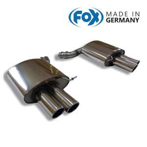 FOX フォックス オールステンレスマフラー(リアマフラー) BMW F12/F13/F06 640i用 90mm 斜め ダブル 左右|alpha-online-shop