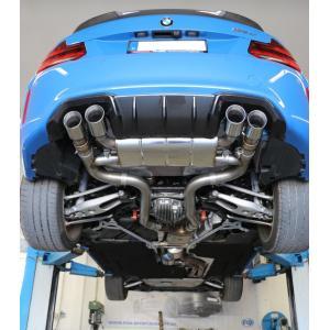 FOX フォックス オールステンレスマフラー(リアマフラー) BMW F87 M2 コンペティション/M2 CS用 90mm 斜め ダブル 左右|alpha-online-shop