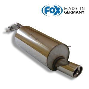 FOX フォックス オールステンレスマフラー(リアマフラー) CITROEN C2 1.4 VTR/C3 1.4用 90mm 斜め|alpha-online-shop