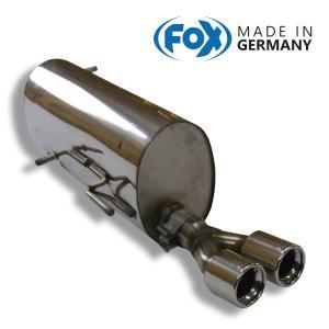 FOX フォックス オールステンレスマフラー(リアマフラー) CITROEN C4 クーペ 2.0 VTS用 80mm ダブル|alpha-online-shop