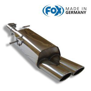 FOX フォックス オールステンレスマフラー(リアマフラー) CITROEN C4 (B7) 1.6 NA用 106x71mm オーバル 斜め ダブル|alpha-online-shop