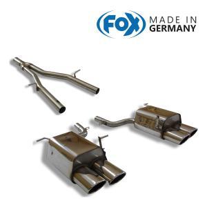FOX フォックス オールステンレスマフラー(コネクションパイプ+リアマフラー) MERCEDES BENZ R172 SLK200用 115x85mm オーバル 斜め ダブル 左右|alpha-online-shop