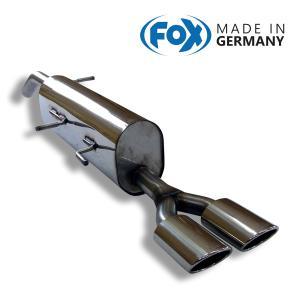 FOX フォックス オールステンレスマフラー(リアマフラー) PEUGEOT 308 CC 1.6用 106x71mm オーバル 斜め ダブル|alpha-online-shop
