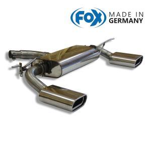 FOX フォックス オールステンレスマフラー(リアマフラー) VOLKSWAGEN Touran (1T) / トゥーラン (1T) 2.0/1.4TSI用 160×80mm フラットオーバル 斜め 左右|alpha-online-shop