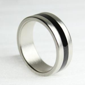 手品リング 指輪 自然なデザイン 強烈な演出 マグネットリング 手品グッズ ハンドパワー 貫通 念力 通り抜け 空中 浮遊 に PKリング ストライプ