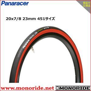 パナレーサー ミニッツライト 20インチ小径車用タイヤ 20×7/8 23mm 451サイズ ブラック/レッド Panaracer Minits Lite|alphacycling