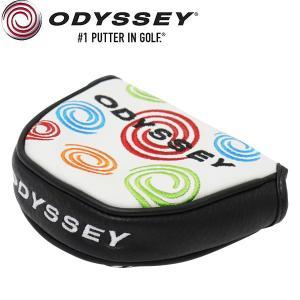 オデッセイ TOUR SUPER SWIRL WHITE 限定 パターカバー (マレット用)本革 / USAモデル Odyssey alphagolf