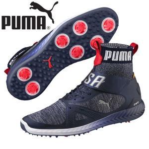 PUMA プーマ ゴルフ シューズ イグナイトパワー アダプト ハイ トップ チーム USA 191563 alphagolf