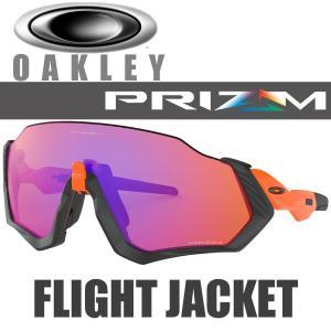 オークリー プリズム トレイル フライトジャケット サングラス OO9401-0437 スタンダードフィット OAKLEY PRIZM TRAIL FLIGHT JACKET / ネオンオレンジ フレーム|alphagolf