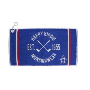 マンシングウェア MUNSINGWEAR ゴルフ メンズ タオル  MGBLJE02 BL00 ブルー 18fwct|alphagolf