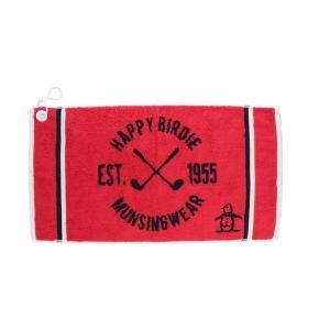 マンシングウェア MUNSINGWEAR ゴルフ メンズ タオル  MGBLJE02 RD00 レッド 18fwct|alphagolf
