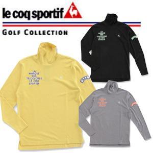 ルコック ゴルフ ウェア メンズ ハイネック 長袖 シャツ / インナー カットソー QG1481 le coq sportif 【14fwcz】|alphagolf