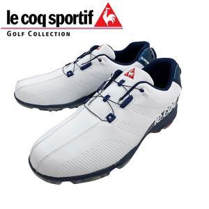 2019年 ルコック スポルティフ ソフトスパイク ゴルフ シューズ ヒールダイヤル式  QQ2NJA00 日本正規品 ホワイトブルー alphagolf