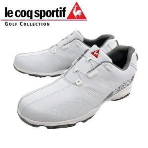 2019年 ルコック スポルティフ ソフトスパイク ゴルフ シューズ ヒールダイヤル式  QQ2NJA01 日本正規品 ホワイト alphagolf