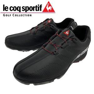 2019年 ルコック スポルティフ ソフトスパイク ゴルフ シューズ ヒールダイヤル式  QQ2NJA02 日本正規品 ブラック alphagolf