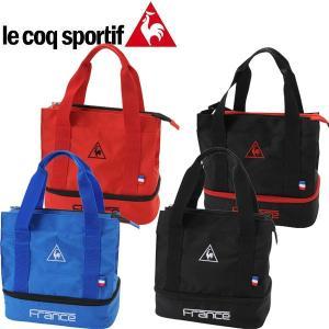 ルコック スポルティフ ゴルフ ポーチ QQ9255 (二層式 / ペットボトルポケット / 保温・保冷)/ 2016年 モデル 日本正規品 le coq sportif|alphagolf