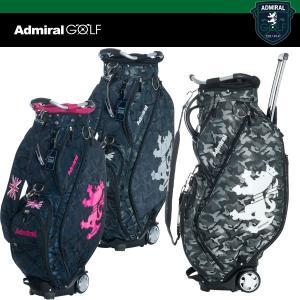 アドミラル ゴルフ カモジャガード カート付き キャディ バッグ 9.0型 46インチ対応 ADMG 8FC7 ADMIRAL GOLF