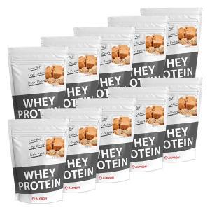 プロテイン ホエイ WPC 1kg キャラメル 10個 セット アルプロン アミノ酸 筋トレ 約500食分 タンパク質含有量約70%|alpron