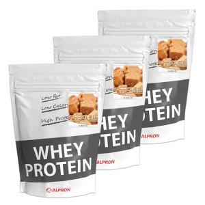 プロテイン ホエイ WPC 1kg キャラメル 3個 セット ミルク アルプロン アミノ酸 筋トレ 約150食分 タンパク質含有量約70%|alpron