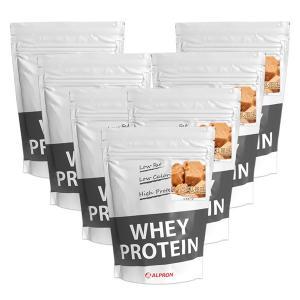 プロテイン ホエイ WPC 1kg キャラメル 風味 7個 セット アルプロン アミノ酸 筋トレ 約350食分 タンパク質含有量約70%|alpron