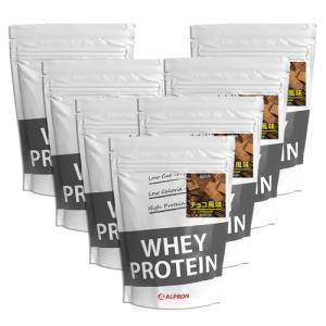 プロテイン ホエイ WPC 1kg チョコレート 7個 セット アルプロン アミノ酸 筋トレ 約350食分 タンパク質含有量約72%|alpron