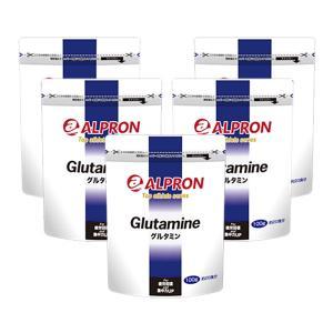 サプリ サプリメント グルタミン 100g × 5個セット アルプロン アミノ酸 筋トレ スポーツ トレーニング|alpron
