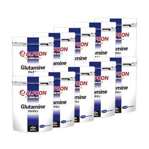 サプリ サプリメント グルタミン 100g × 10個セット アルプロン アミノ酸 筋トレ スポーツ トレーニング|alpron