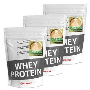 プロテイン ホエイ WPC 1kg ほうじ茶ラテ 3個 セット ミルク アルプロン アミノ酸 筋トレ 約150食分 タンパク質含有量約68%|alpron
