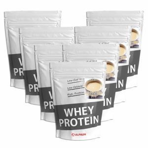 プロテイン ホエイ WPC 1kg ミルクティー 7個 セット アルプロン アミノ酸 筋トレ 約350食分 タンパク質含有量約71%|alpron