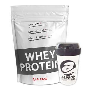 プロテイン ホエイ WPC 1kg プレーン シェイカー セット ナチュラル アルプロン 無添加 アミノ酸 筋トレ 約50食分 タンパク質含有量約80%|alpron