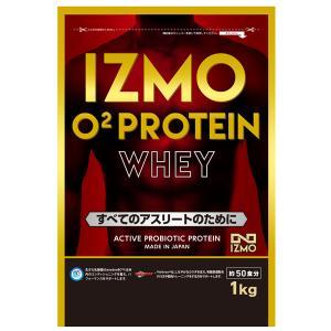プロテイン ホエイ O2ホエイプロテイン 1kg 選べるフレーバー 生きた乳酸菌BC-30配合 チョコ風味 ストロベリー風味 カフェオレ風味 IZMO イズモ|alpron