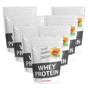 プロテイン ホエイ WPC 1kg トロピカルフルーツ 風味 7個 セット アルプロン アミノ酸 筋トレ 約350食分 タンパク質含有量約70%|alpron