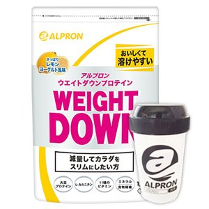 プロテイン ソイ 大豆 ウェイトダウン レモンヨーグルト風味 プロテイン × シェイカーセット 1,050g アルプロン 約70食分|alpron