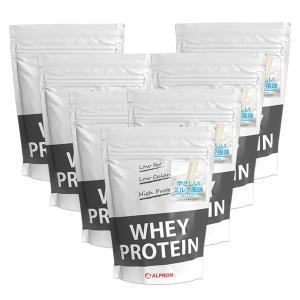 プロテイン ホエイ WPC 1kg やさしいミルク 風味 7個 セット アルプロン アミノ酸 筋トレ 約350食分 タンパク質含有量約78%|alpron