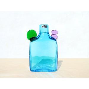 Pompom Bottle #526 Blue Nuutajarviシール付 / Oiva Toik...