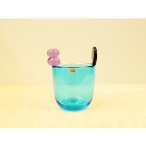 Pompom Vase #527 Blue Arabiaiシール付 / Oiva Toikka デザ...