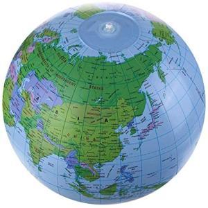 【Big Hashi 】ビーチボール地球儀 世界地図 知力育て&お洒落なおもちゃ 英語併記付きの地球...