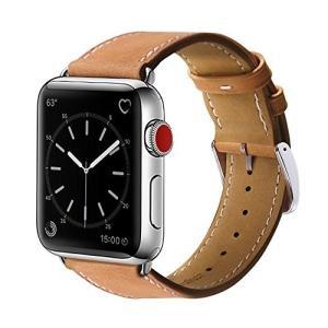BRG For apple watch バンド,本革 ビジネススタイル アップルウォッチバンド アッ...