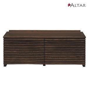 仏壇下台 ローボード アバンギャルド カラー2色 W120 H45 天然木 テレビボード収納家具 仏壇専用台 セール 送料無料 ALTAR アルタ|altar