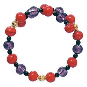 数珠 ブレスレット LV-1010 女性用 念珠 片手念珠 ベネチアンガラス ヴェネツィアン パワーストーン ALTAR アルタ|altar