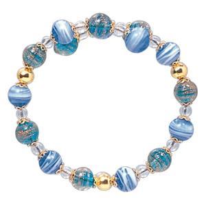 数珠 ブレスレット LV-1012 女性用 念珠 片手念珠 ベネチアンガラス ヴェネツィアン パワーストーン ALTAR アルタ|altar