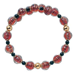 数珠 ブレスレット LV-1014 女性用 念珠 片手念珠 ベネチアンガラス ヴェネツィアン パワーストーン ALTAR アルタ|altar
