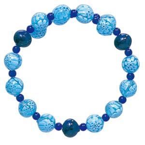 数珠 ブレスレット LV-1016 女性用 念珠 片手念珠 ベネチアンガラス ヴェネツィアン パワーストーン ALTAR アルタ|altar