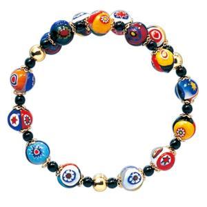 数珠 ブレスレット LV-1017 女性用 念珠 片手念珠 ベネチアンガラス ヴェネツィアン パワーストーン ALTAR アルタ|altar