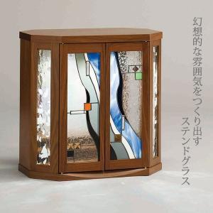 コンパクト仏壇 アンティコ 幅50cm 高さ50cm ステンドグラス 天然木 LED 職人 日本製 仏具 現代仏壇 モダン仏壇 八木研 セール 送料無料 ALTAR アルタ|altar