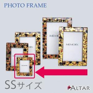 フォトフレーム ヴェネツィアン SSサイズ カラー10色 W7 H8 写真立て イタリア製 ヴェネツィアンガラス 金箔 銀箔 職人 仏具 送料無料 ALTAR アルタ|altar
